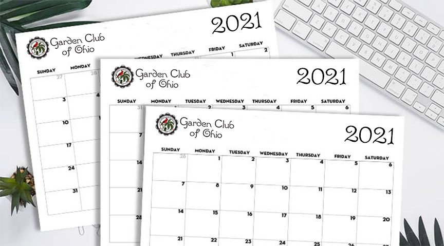 Garden Club of Ohio 2021 Calendar of events